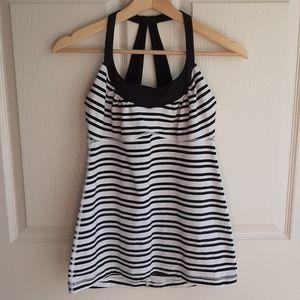 Lululemon Black Stripe Scoop Me Up Tank Top Size 6